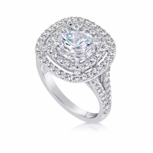 2.32 Ct Round Cut Si1 Diamond Solitaire Engagement Ring 14K White Gold
