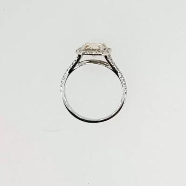 2.5 Carat Round Cut Diamond Engagement Ring 14K White Gold 3