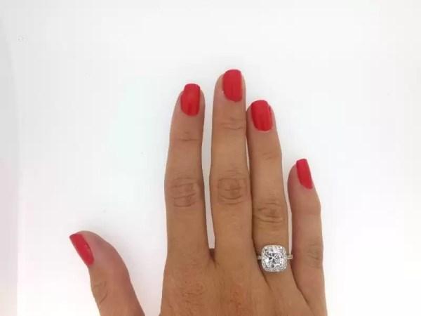 3 Carat Round Cut Diamond Engagement Ring 18K White Gold 2
