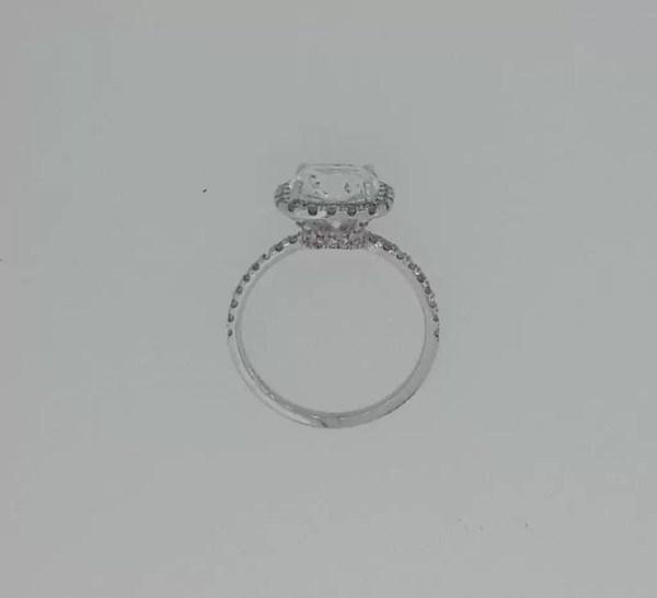 3 Carat Round Cut Diamond Engagement Ring 18K White Gold 3