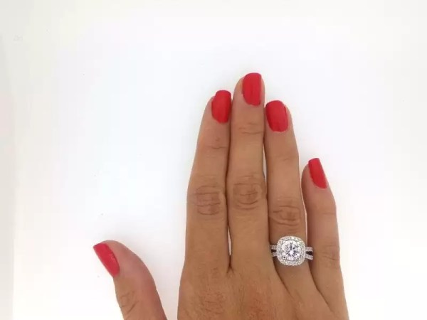 3 Ct Round Cut EVs2 Diamond Solitaire Engagement Ring 14K White Gold 2