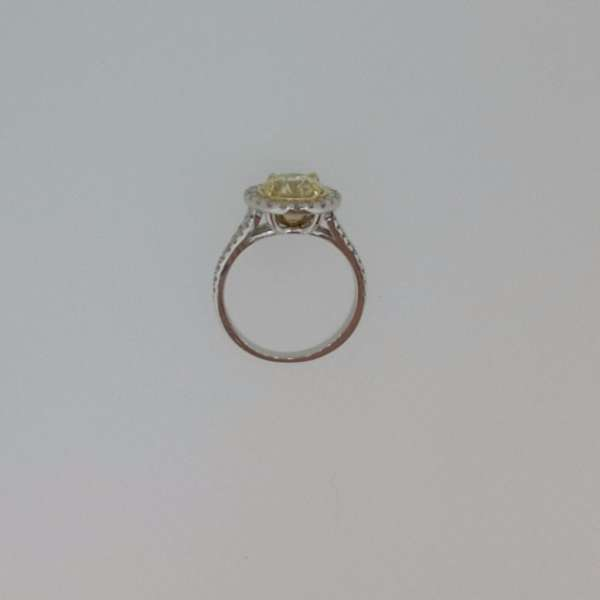 4.50 Ct Round Cut Fancy Yellow Diamond Solitaire Engagement Ring 18K Gold 4