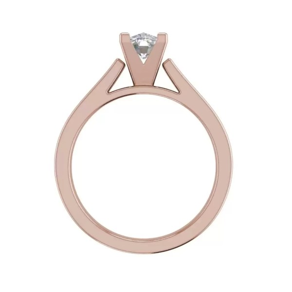Cathedral 2.5 Carat SI1 Clarity D Color Oval Cut Diamond Engagement Ring Rose Gold 2