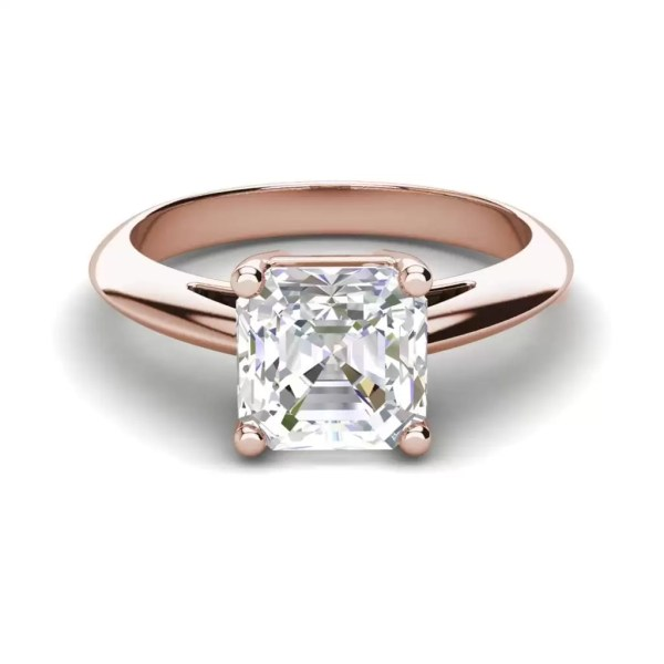 Solitaire 2 Carat VS2 Clarity H Color Cushion Cut Diamond Engagement Ring Rose Gold 3
