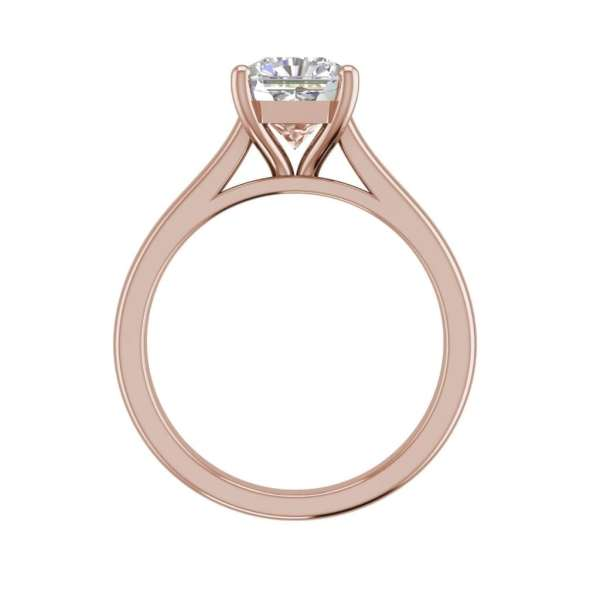 Solitaire 2.25 Carat VS1 Clarity H Color Cushion Cut Diamond Engagement Ring Rose Gold 2