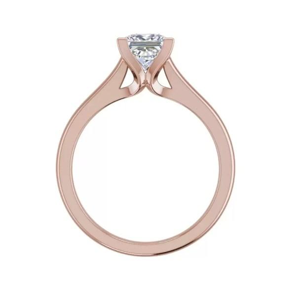 Solitaire 2.25 Carat VS2 Clarity F Color Princess Cut Diamond Engagement Ring Rose Gold 2