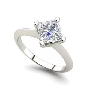 4 Prong 2 Carat VS2 Clarity H Color Princess Cut Diamond Engagement Ring White Gold