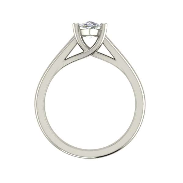 Solitaire 0.5 Carat VS2 Clarity H Color Marquise Cut Diamond Engagement Ring White Gold 2