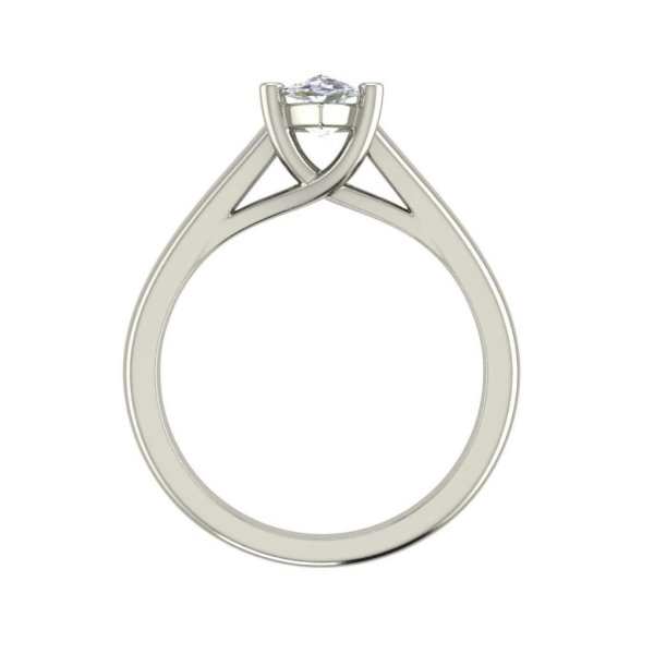 Solitaire 0.5 Carat VVS2 Clarity F Color Marquise Cut Diamond Engagement Ring White Gold 2