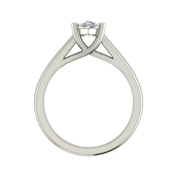 Solitaire 0.9 Carat VVS2 Clarity F Color Marquise Cut Diamond Engagement Ring White Gold 2