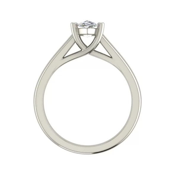 Solitaire 2 Carat SI1 Clarity D Color Marquise Cut Diamond Engagement Ring White Gold 2