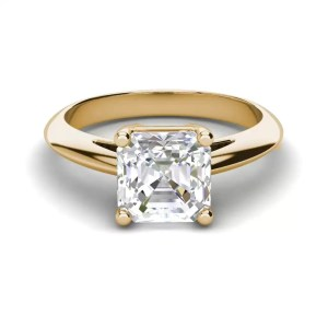 Solitaire 2 Carat VS2 Clarity H Color Cushion Cut Diamond Engagement Ring Yellow Gold 3