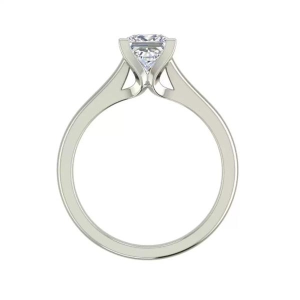 Solitaire 2.25 Carat VS2 Clarity F Color Princess Cut Diamond Engagement Ring White Gold 2