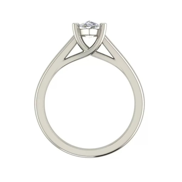 Solitaire 2.5 Carat VS2 Clarity D Color Marquise Cut Diamond Engagement Ring White Gold 2