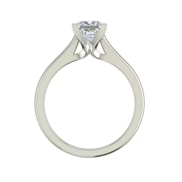 Solitaire 2.5 Carat VVS1 Clarity D Color Princess Cut Diamond Engagement Ring White Gold 2
