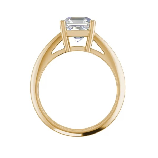 Solitaire 1.5 Carat VS1 Clarity F Color Cushion Cut Diamond Engagement Ring Yellow Gold 2