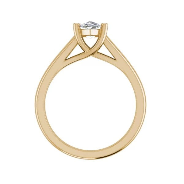 Solitaire 2.5 Carat VS2 Clarity D Color Marquise Cut Diamond Engagement Ring Yellow Gold 2