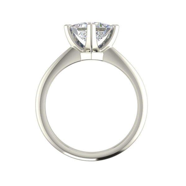 4 Prong 0.5 Carat Princess Cut Diamond Engagement Ring White Gold