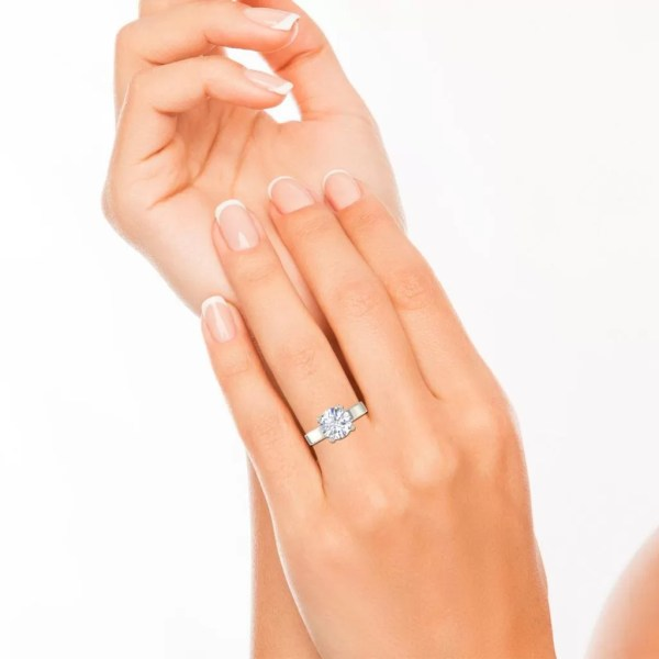 Handmade Milgrain 0.5 Carat Round Cut Diamond Engagement 3