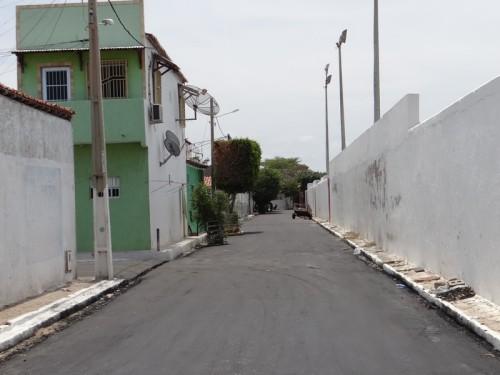 Novas ruas asfaltadas