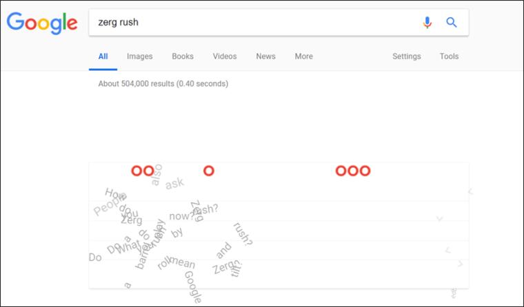 لعبة ستار كرافت فى جوجل