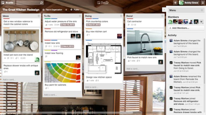 تطبيقات الإنتاجية وتطوير الذات تريلو ادارة فرق