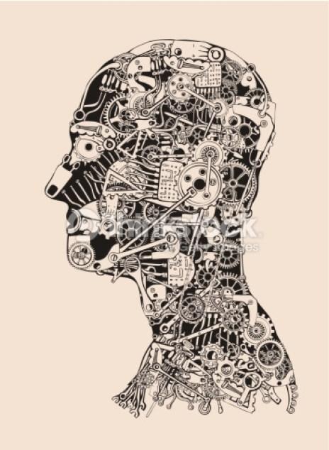 دماغ الإنسان آلة ميكانيكية