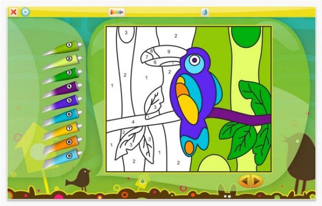 color by number1 أفضل 15 تطبيق تعليمي للأطفال