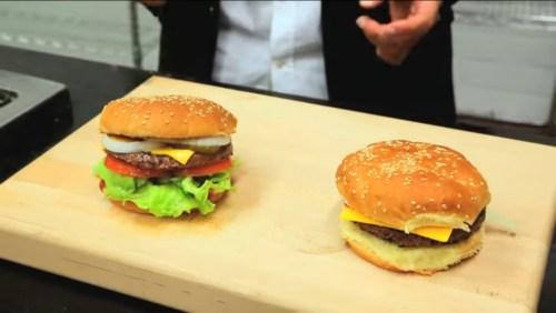 fake burger vs real burger
