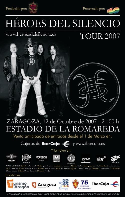 Cartel promocional del concierto en Zaragoza