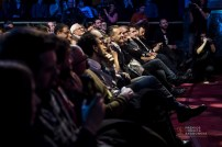 La primera fila del público. Foto, Marcos Cebrián