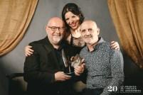 Antón Castro, Beatriz Pitarch y Miguel Mena. Foto, Jal Lux
