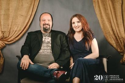 Miriam Martín y Raúl Guíu (Academia del Cine Aragonés). Foto, Jal Lux