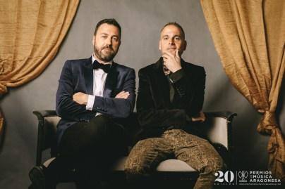 David Chapín y Sergio Falces (Aragón Musical). Foto, Jal Lux