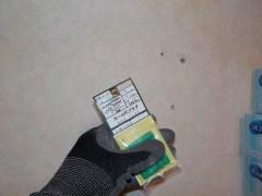 ビスを受けるコンクリートアンカーを挿入します。