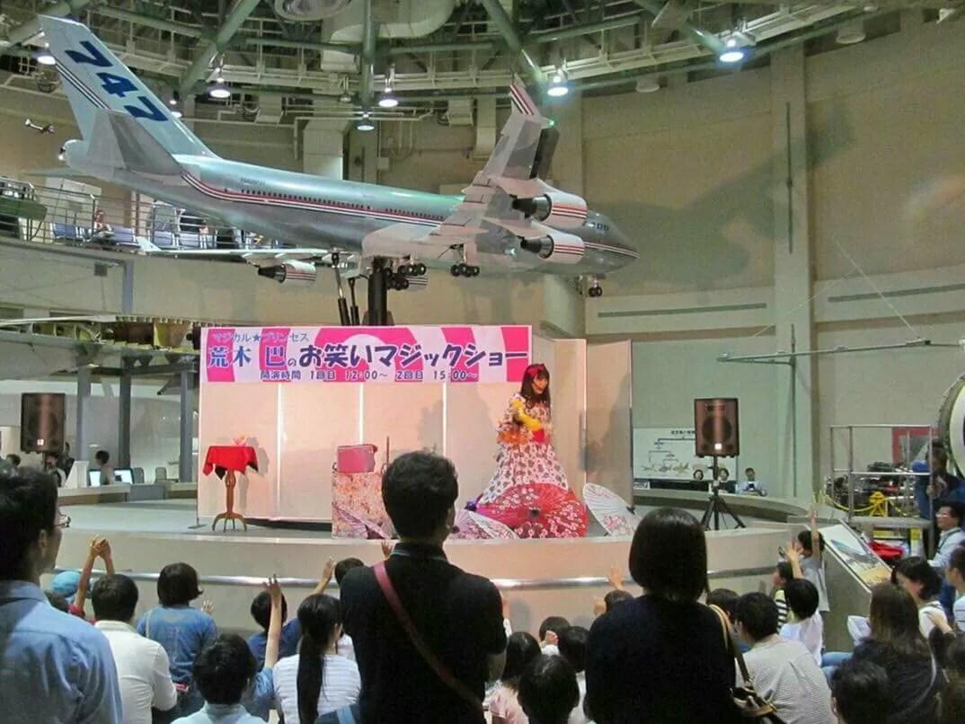 成田航空科学博物館様でお笑いマジックショー