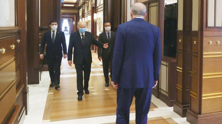 Beştepe'de 'anayasa' buluşması