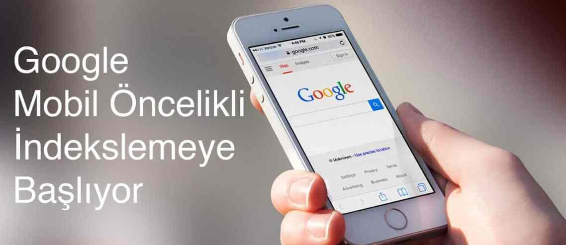Google, Mobil Öncelikli İndekslemeye Başlıyor