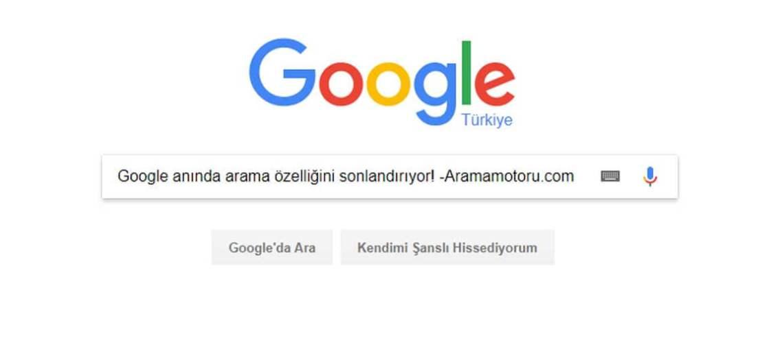 Google Anında Arama Özelliği