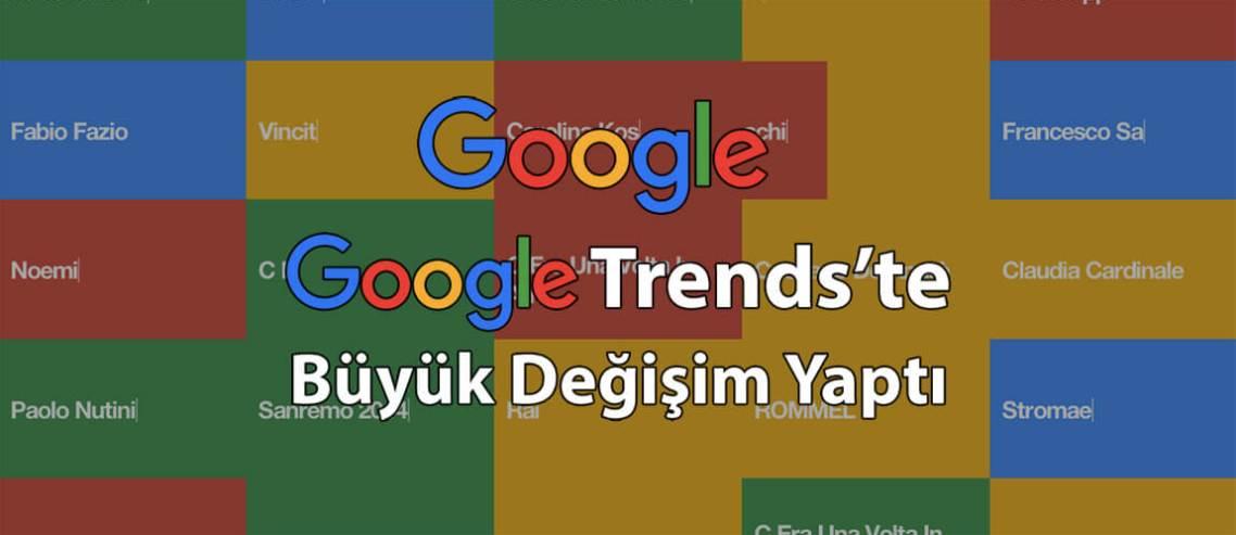 Google, Google Trends'te Büyük Değişim Yaptı