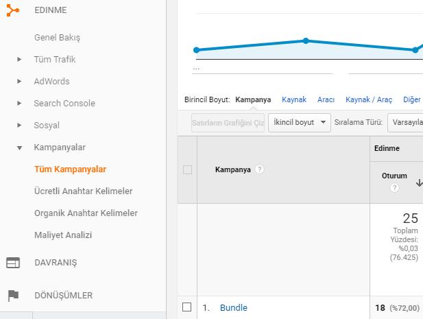 Google Analytics UTM Kodu Örneği
