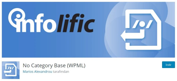 Wordpress No Category Base (WPML) Eklentisi