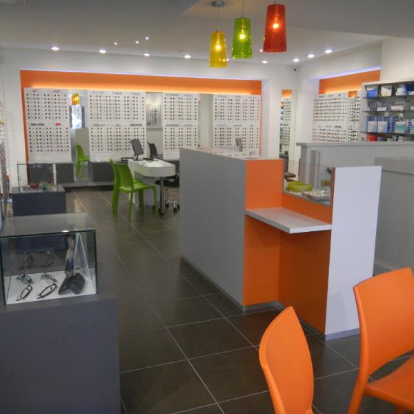 meuble pour agencement de magasin d'optique