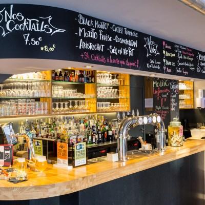 bar à bières en bois