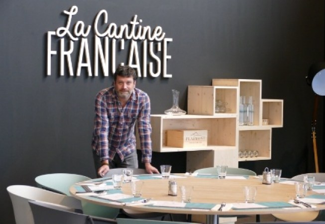 Le Chef étoilé toulousain, Yannick Delech prend la pose à la Cantine Française