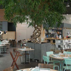 Agencement intérieur de la nouvelle brasserie de Yannick Delpech