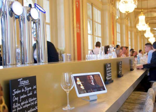 Comptoir en étain et laiton pour le comptoir de Philippe Etchebest à Bordeaux