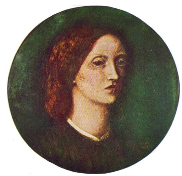 autorretrato de Elizabeth Siddal - Mujeres victorianas | Las mujeres de la hermandad prerrafaelita