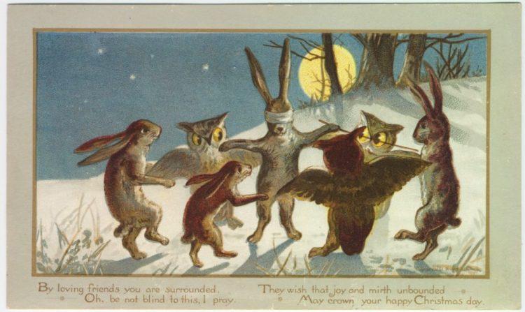 postal victoriana - Navidad en la época victoriana