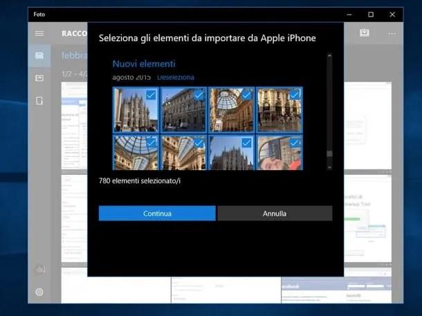 Come eliminare foto da iPhone importate da PC